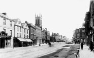 Honiton, High Street and St Paul's Church 1904