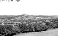 Honiton, view from Honiton Hill c1955