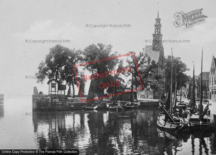 Photo of Hoorn, Veermanskade And Hoofdtoren From The Bridge c.1930