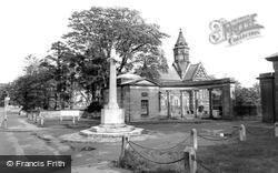 Hooton, The Memorial And St Paul's Church c.1960