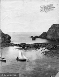 Boats At Moorings 1890, Hope Cove