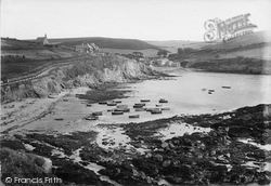 Boats Moored 1920, Hope Cove