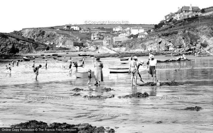 Photo of Hope Cove, The Harbour And The Beach c.1936