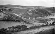 Hope Cove, view from Cliffs 1920