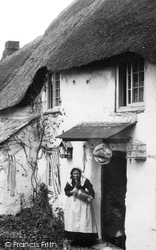 Woman, Old Thatched Cottage 1890, Hope Cove