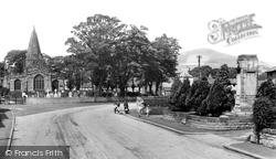 St Peter's Church And War Memorial c.1955, Hope