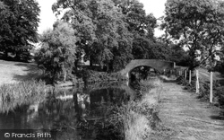 Hopwas, The Canal And Park Bridge c.1965
