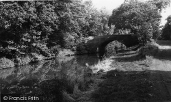 Hopwas, The Canal And Wood Bridge c.1965