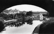 Hopwas, the Canal from Dixons Bridge c1965