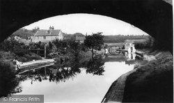 Hopwas, The Canal From Dixons Bridge c.1965