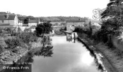 Hopwas, The Canal From Nursery Lane Bridge c.1955