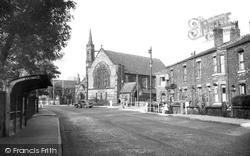 Hopwood, St John's Church And Manchester Road c.1955