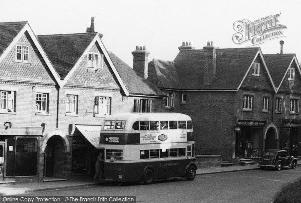 Photo of Horam, A Southdown Bus c.1955