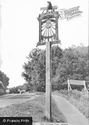 Horam, The Village Sign c.1955