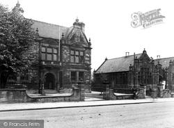 Horbury, Town Hall And Library, Westfield Road c.1955