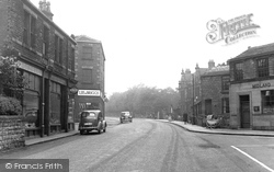 Horbury, Westfield Road And Town Hall c.1955