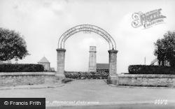 Horden, The Memorial Entrance c.1950