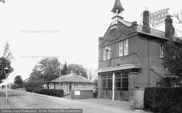 Photo of Horley, Albert Road And Fire Station 1931