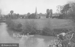 Horley, St Bartholomew's Church And River Mole 1929