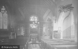 Horley, St Bartholomew's Church, Interior 1922