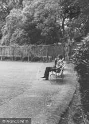 Horncastle, Man In The Park c.1965