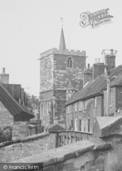 Horncastle, The Church From The Riverside c.1960