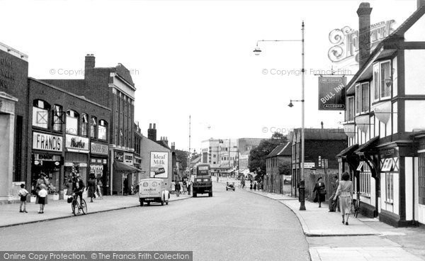 Photo of Hornchurch, High Street c1950