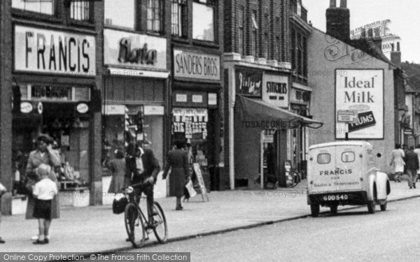 Photo of Hornchurch, Shop in High Street c1950, ref. H115025x