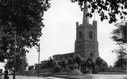 Hornchurch, St Andrew's Church And War Memorial c.1950