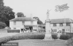War Memorial And Post Office c.1960, Horndean