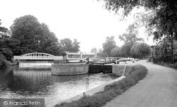 Horningsea, Lock Gates, River Cam c.1955
