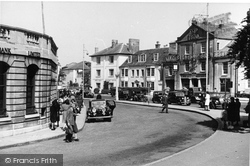 Carfax From The Bandstand c.1950, Horsham