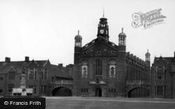 Horsham, Christ's Hospital School Chapel c.1955