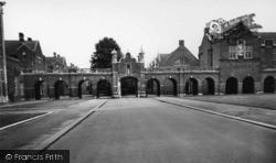 Horsham, Christ's Hospital School, Cloisters c.1955