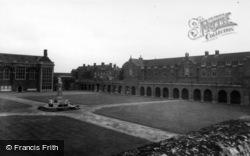 Horsham, Christ's Hospital School, The Quadrangle c.1955