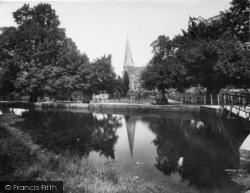 Horsham, St Mary's Church And River Arun 1927