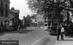 Horsham, The Carfax And Town Hall c.1950