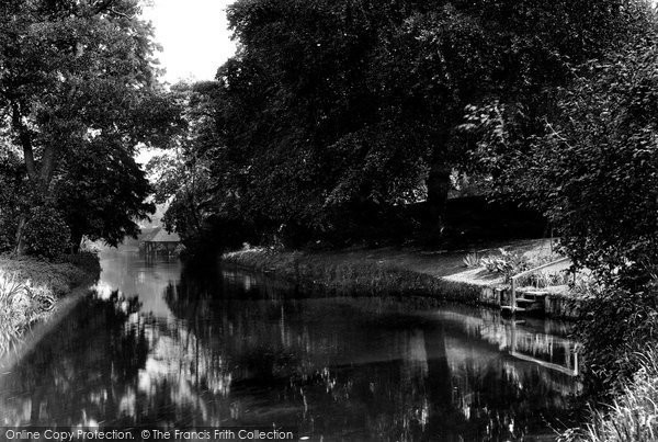 Horstead, The River Below Horstead House 1934