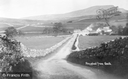 Horton-In-Ribblesdale, Pen-Y-Ghent From South c.1930