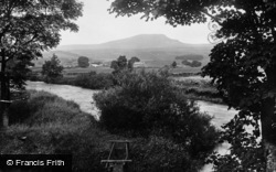 Horton-In-Ribblesdale, Showing Pen-Y-Ghent 1921