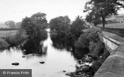 Horton-In-Ribblesdale, The River From The Bridge c.1955, Horton In Ribblesdale