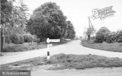 Entrance To The Village c.1955, Hose