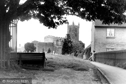 St Michael's Church And Village Green c.1955, Hose