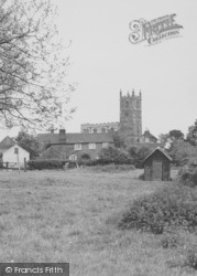 The Church From Green Lane c.1955, Hose
