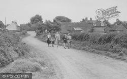 Walking On Canal Lane c.1955, Hose