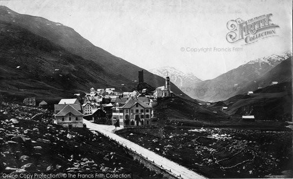 Photo of Hospental, The Village c.1875