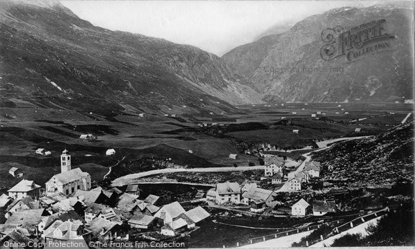 Photo of Hospental, Village And Valley c.1875