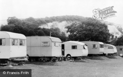 Houghton, A Corner Of Vinsons Caravan Park c.1960