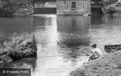 Fishing By The Mill c.1960, Houghton