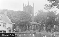 Houghton-Le-Spring, The Church c.1955